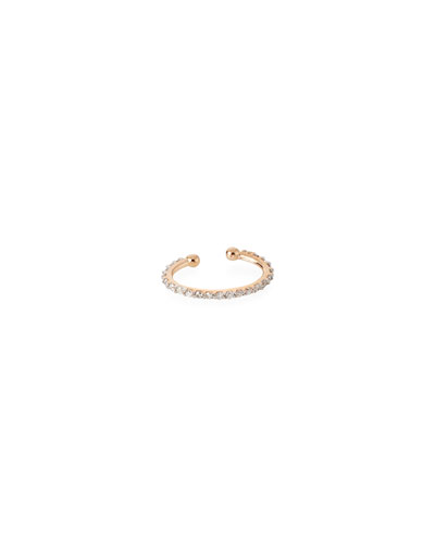 14k Diamond Pave Single Clip-On Earring