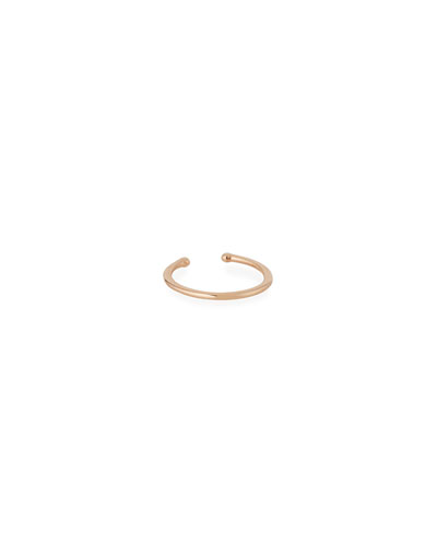 Single Circle Ear Clip-On Cuff Earring in 14K Rose Gold
