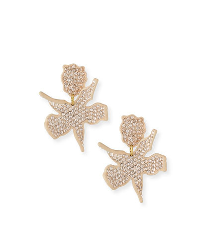 Allover Crystal Lily Earrings