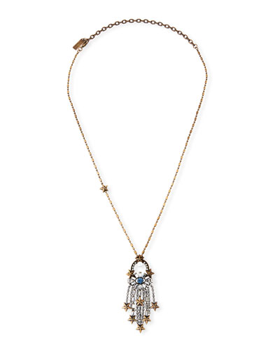 Falling Star Pendant Necklace