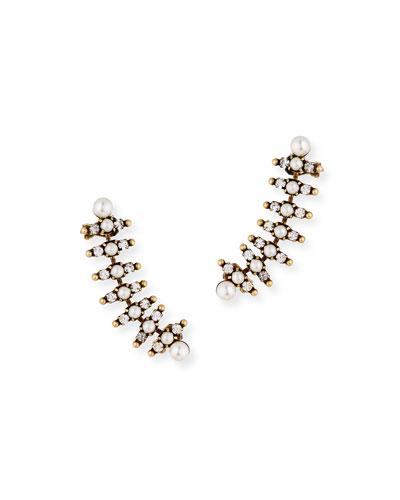 Bronson Pearly Climber Earrings