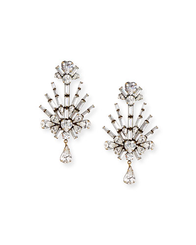 Auden Harper Crystal Clip-On Earrings 4XJHtRLKgs