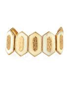 Hexagon Bone Cuff Bracelet