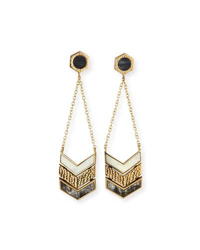 Hexagon Chain Drop Earrings