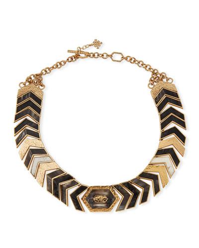 Hexagon Horizontal Necklace