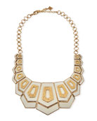 Hexagon Vertical Bib Necklace