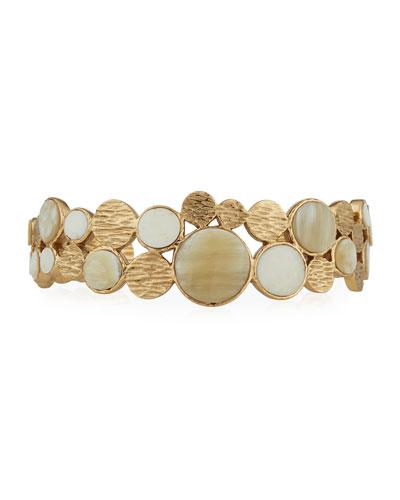 Circle Adjustable Cuff Bracelet