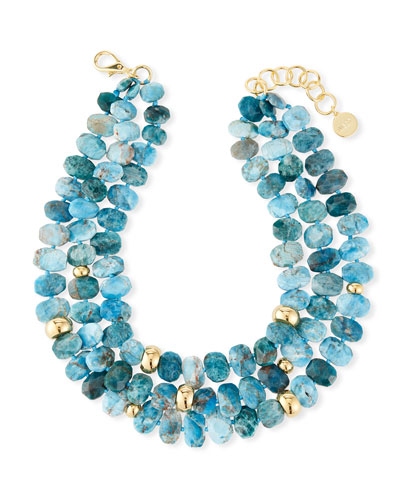 Multi-Strand Apatite Necklace