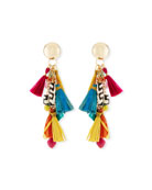 "Tassel Statement Earrings, 3""L"