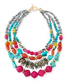Four-Strand Statement Necklace, 24""