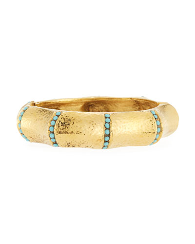 Turquoise-Studded Bangle Bracelet