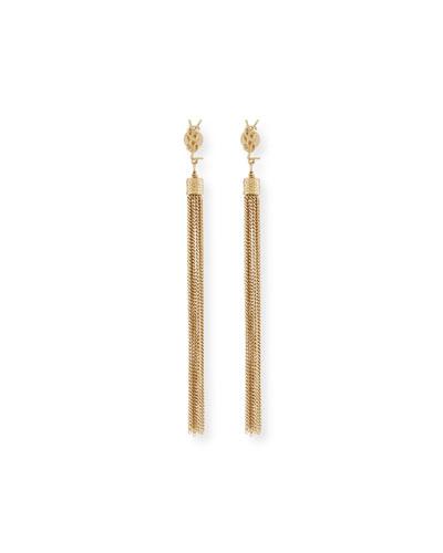 Bouclé Chain Dangle Earrings