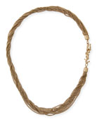 Multi-Strand Twisted Chain Necklace