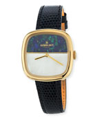 Eppie Lizard Strap Watch, Blue