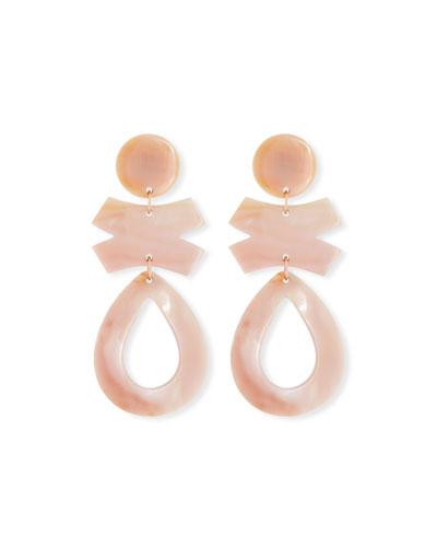 Pink Mother-of-Pearl Drop Earrings