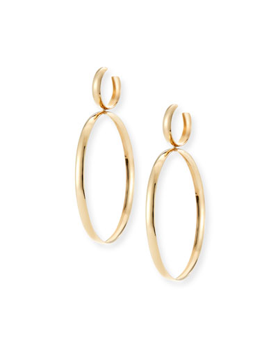 Curve Large Hoop Drop Earrings