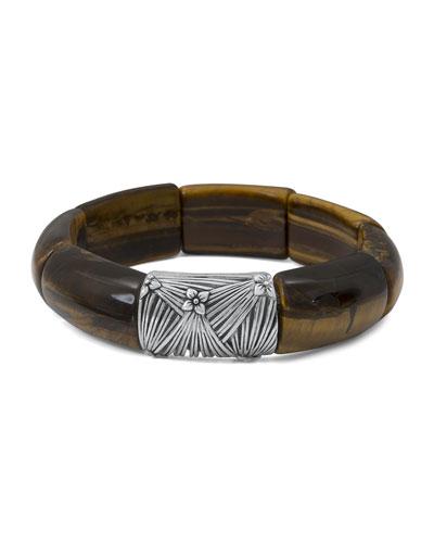 Yellow Tigers Eye Station Bracelet