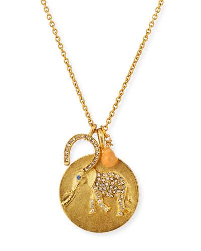 Elephant Charm Talisman Necklace