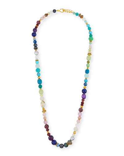 Dina Mackney Blue Apatite Multi-Strand Necklace, 36L