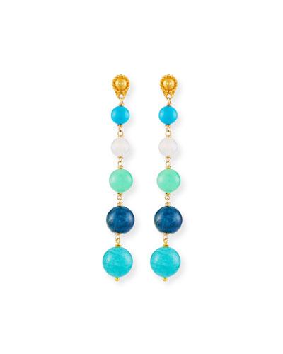 Five Turquoise Drop Earrings