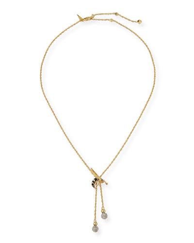 Petite Hornet Lariat Necklace