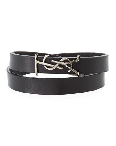 Leather Double-Wrap Bracelet