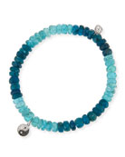 Sydney Evan 14k Apatite Beaded Stretch Bracelet w/