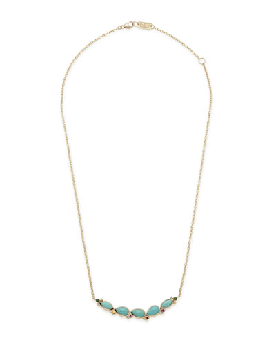Prisma Five-Stone Smile Bar Necklace in Portofino