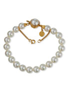 8mm Simulated Pearl Clasp Bracelet