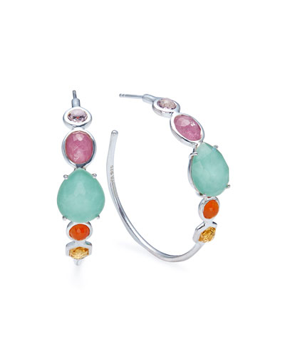 Rock Candy Mixed-Stone #3 Hoop Earrings