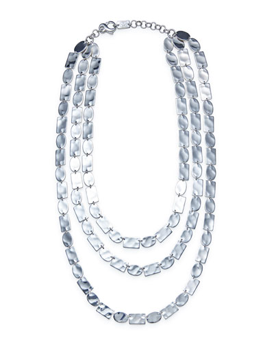 Senso™ Triple Mixed Disc Necklace