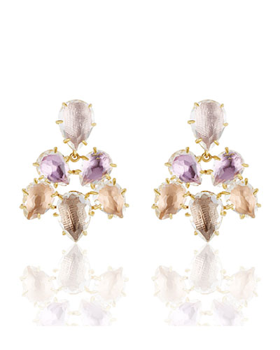 Caterina Chandelier Earrings in Ballet, Rose, Bellini & Fawn Foils