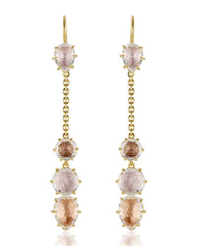 Caterina Chain Drop Earrings in Ballet, Fawn & Bellini