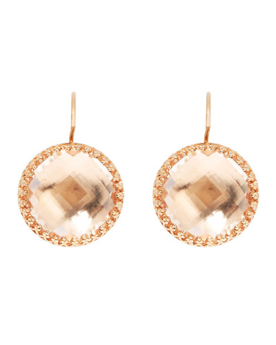 Olivia White Quartz Drop Earrings with Copper Foil