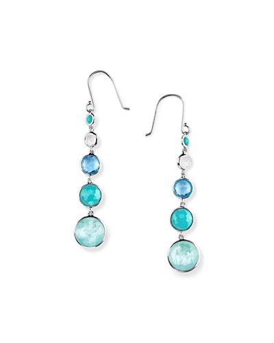 Silver Lollitini Five-Stone Earrings in Eclipse
