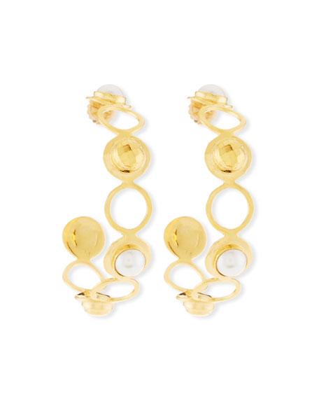 Devon Leigh Pearly Hoop Earrings