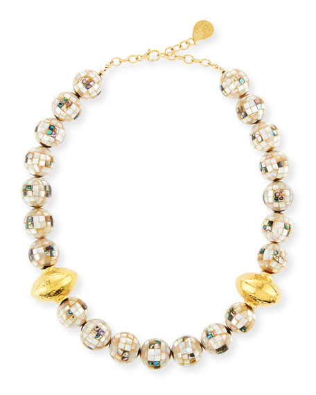 Devon Leigh Round Shell Beaded Necklace