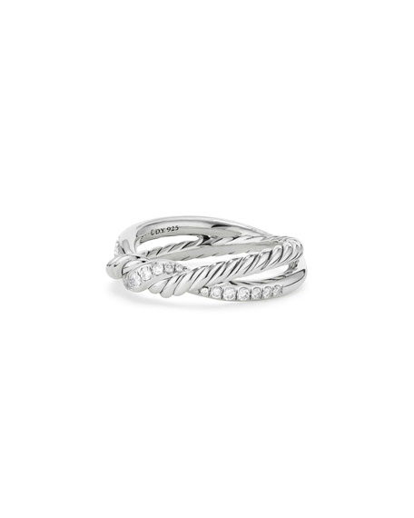 David Yurman Continuance Sterling Silver Diamond Single-Twist Ring