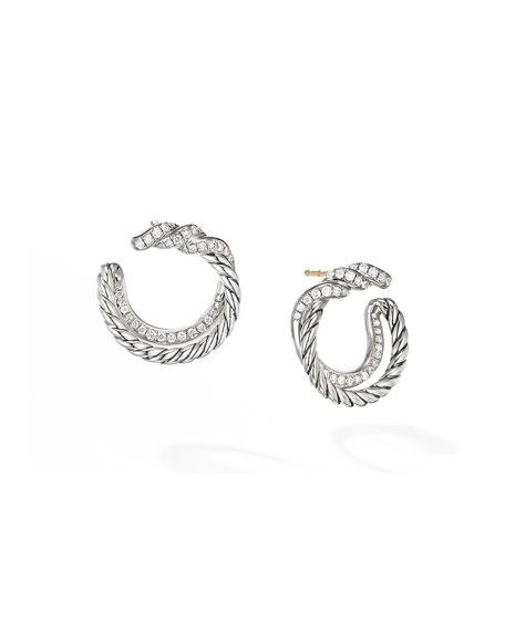 David Yurman Continuance Diamond Hoop Earrings