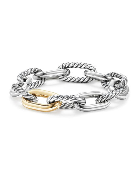 David Yurman Madison 18k Woman's Large Chain Link Bracelet, 13.5mm