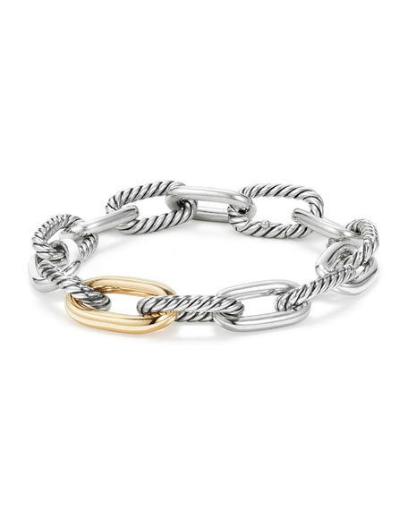 David Yurman Madison 18k Woman's Medium Chain Link Bracelet, 11mm