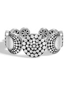 Dot Hammered Flex Cuff Bracelet