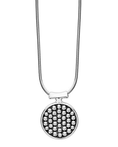 Bold Caviar Round Pendant Necklace