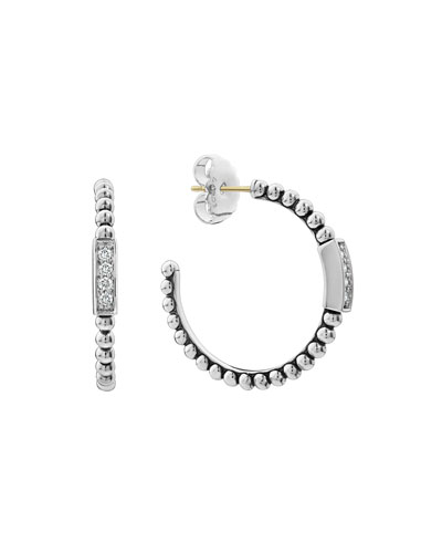 Caviar™ Spark Diamond Hoop Earrings