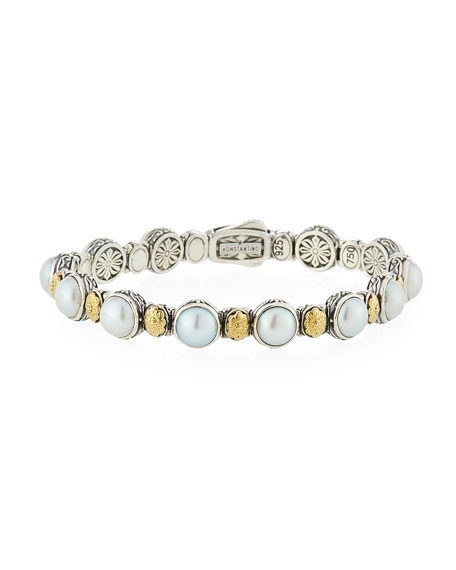 Konstantino Hestia Mother-of-Pearl Station Bracelet