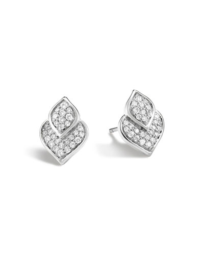 Naga Stud Earrings w/ Diamonds