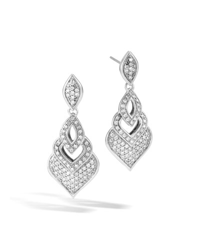 Naga Drop Earrings w/ Diamonds