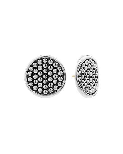 Bold Caviar 25mm Button Earrings