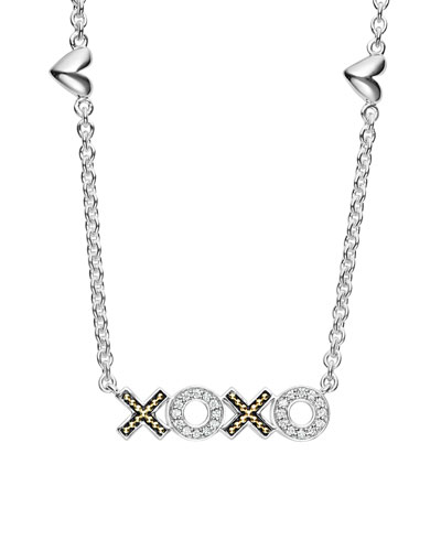 Diamond Caviar™ XOXO Pendant Necklace