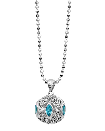 Caviar™ Talisman Marquise Ball Pendant Necklace, 34